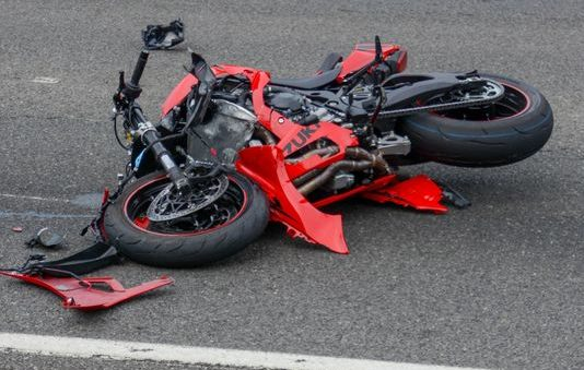 crashed motorcycle in Las Vegas